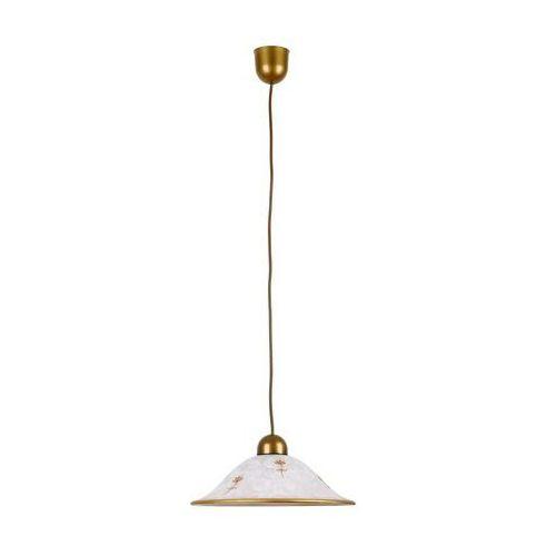 Lampa wisząca zwis Rabalux Art flower 1x60W E27 biały / brąz 1955 (5998250319551)