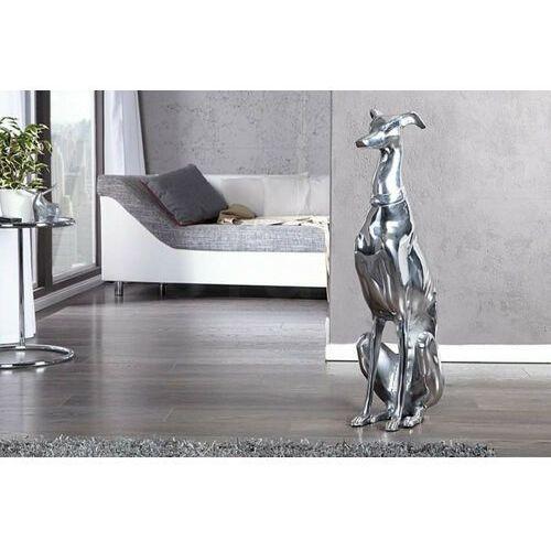 Sofa.pl Invicta dekoracja greyhound 70cm srebrna - aluminium