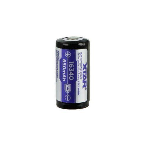 akumulator Xtar 16340 / R-CR123 3,7V Li-ion 650mAh z zabezpieczeniem, OGNIWO_XTAR650