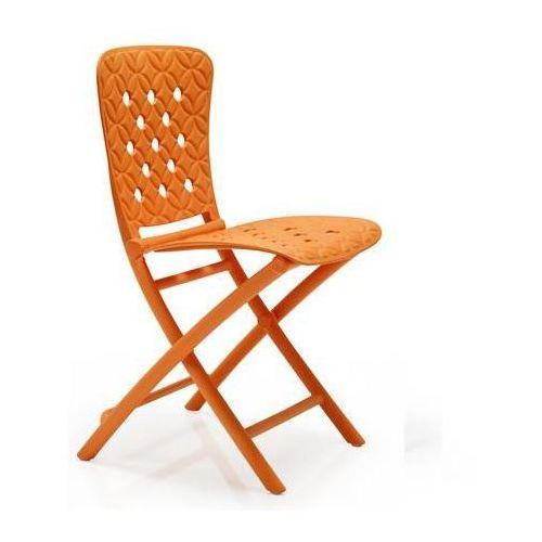 Krzesło składane Zac Spring pomarańczowe, 81508