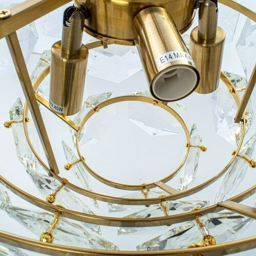 Lampa wisząca 6x40W E14 GRACE ML5994 Milagro, kolor Złoty