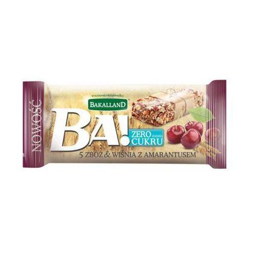 30g ba! baton zbożowy 5 zbóż wiśnia z amarantusem marki Bakalland