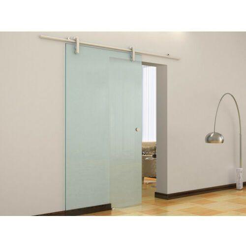 Vente-unique Naścienne drzwi przesuwne cleaver - wys. 205 × szer. 83 cm - szkło hartowane