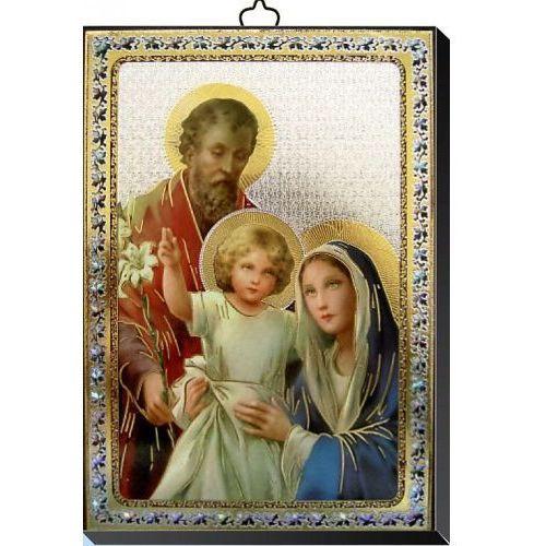 Produkt włoski Obrazek ze świętą rodziną 10x14 cm