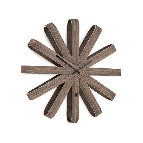 Zegar ścienny ribbonwood walnut 50 cm marki Umbra