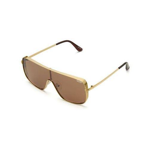 Okulary Słoneczne Quay Australia QC-000218 QUAYXKYLIE UNBOTHERED GLD/BRN, kolor żółty