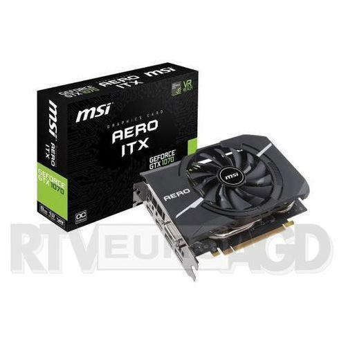 MSI GeForce GTX 1070 Aero ITX 8G OC 8GB GDDR5 256bit - produkt w magazynie - szybka wysyłka!