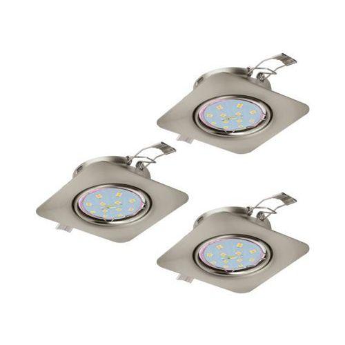 Plafon Eglo Peneto 94268 lampa oprawa wpuszczana downlight oczko zestaw 3szt 3x5W GU10-LED nikiel mat, 94268