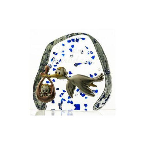 Skałka kryształowa z grawerką i posrebrzaną blaszką - 2095 - - produkt z kategorii- Na imieniny dla przyjaciółki