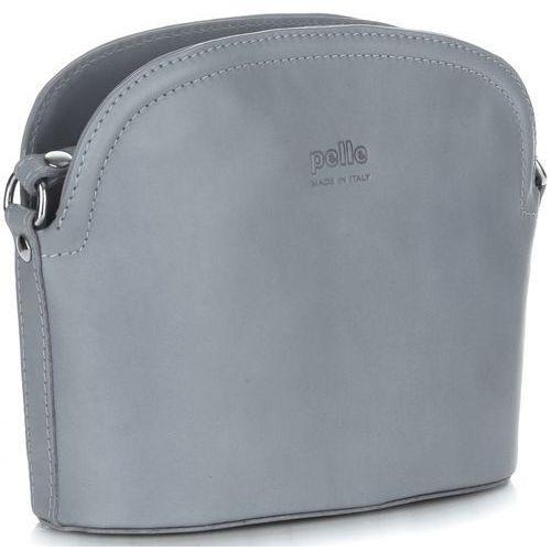 Genuine leather Włoskie torebki skórzane listonoszki firmy wykonane z wytrzymałej skóry licowej jasny szary (kolory)