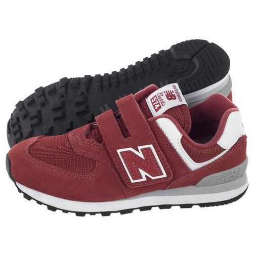 Buty New Balance YV574EC Bordowe (NB305-a), kolor czerwony