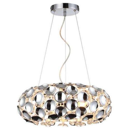 Light prestige Lampa wisząca ferrara lp-17060/3p glamour oprawa owalny zwis carera chrom
