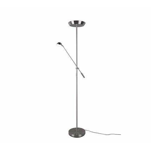 Trio rl haora r42321207 lampa stojąca podłogowa 1x17w+1x3,5w led niklowa