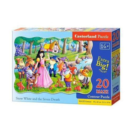 Castorland Puzzle maxi konturowe snow white and the seven dwarfs 20