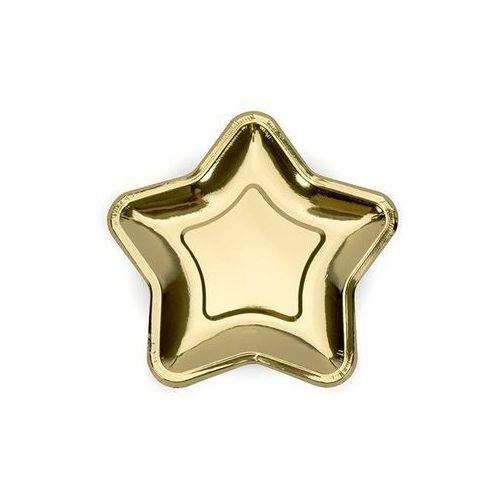 Talerzyki Gwiazda złote - 18 cm - 6 szt. (5902230734098)