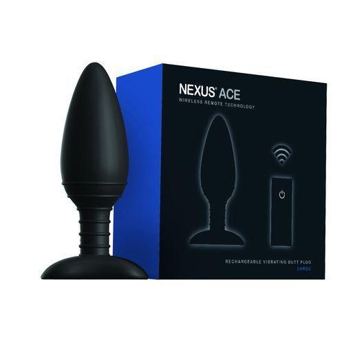 Plug analny zdalnie sterowany - ace remote control vibrating butt plug l marki Nexus