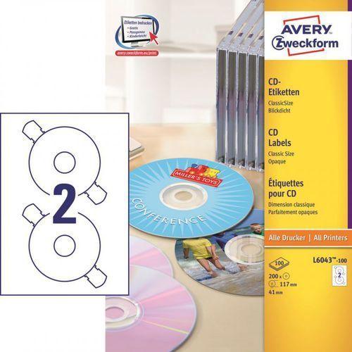 Avery zweckform Etykiety na cd economy l6043, 117mm