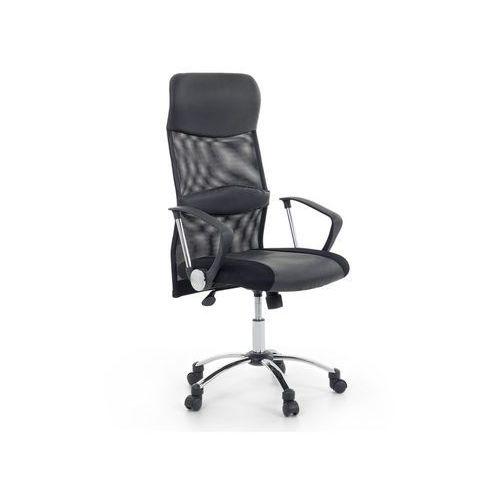Beliani Krzesło biurowe czarne skórzane regulowana wysokość design (7081455945743)