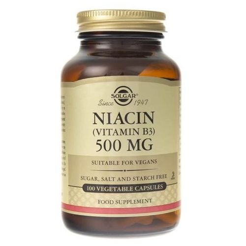 Solgar Niacyna 500 mg - 100 kapsułek