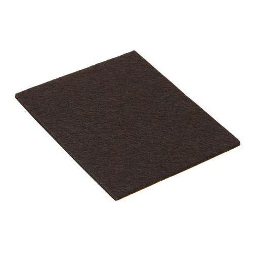 Diall Podkładki filcowe samoprzylepne 80 x 100 mm brązowe