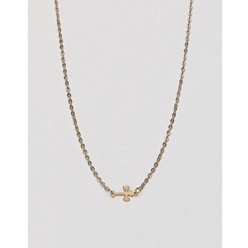 DesignB London Cross Necklace - Gold