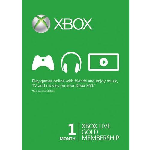 Xbox 1 month gold membership global marki Microsoft