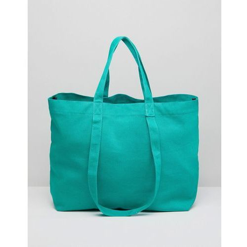 Asos sustainable cotton double handle summer shopper - green