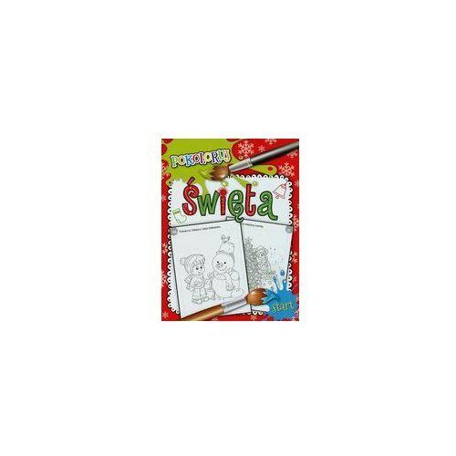 Święta Pokoloruj - Wydawnictwo Olesiejuk OD 24,99zł DARMOWA DOSTAWA KIOSK RUCHU (9788327425867)