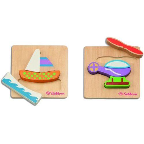 EICHHORN Drewniane puzzle środki transportu – 2 rodzaje (4003046035056)