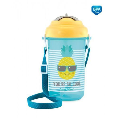 Canpol babies Canpol bidon ze składaną rurką ananas 400ml (5901691816664)