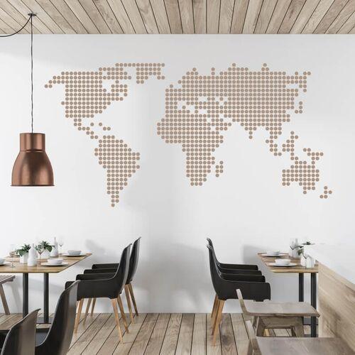 Wally - piękno dekoracji Naklejka na ścianę mapa świata 05