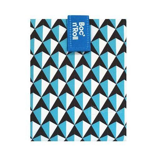 roll'n'eat tiles chusta do zawijania jedzenia / lunchbox - niebieski marki Boc'n'roll