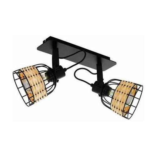 Eglo anwick 1 43325 lampa wisząca zwis 2x40w e27 czarna/szara (9002759433253)