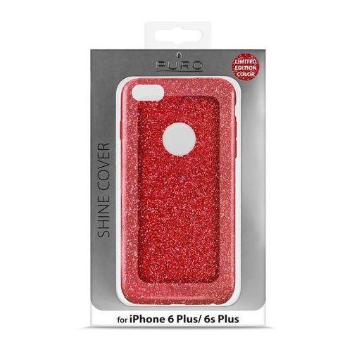 PURO Glitter Shine Cover - Etui iPhone 6 Plus/6s Plus (Red Love) Odbiór osobisty w ponad 40 miastach lub kurier 24h (Futerał telefoniczny)