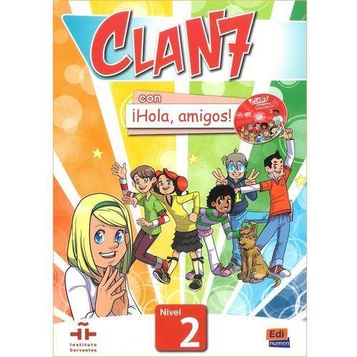 Clan 7 con Hola amigos 2 podręcznik CD MultiROM, oprawa miękka
