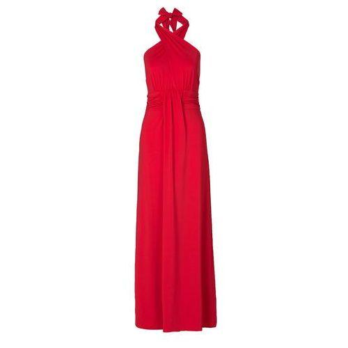 Bonprix Sukienka z założeniem kopertowym czerwony