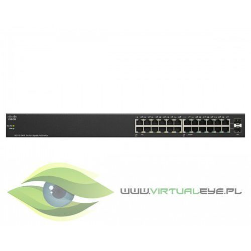 Cisco sg110-24hp 24-port poe gigabit, 2x combo mini-gbic switch