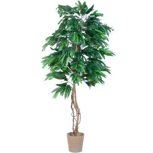 OKAZJA - Greentree Sztuczne drzewo mango 180 cm kwiaty drzewko - mango 180 cm