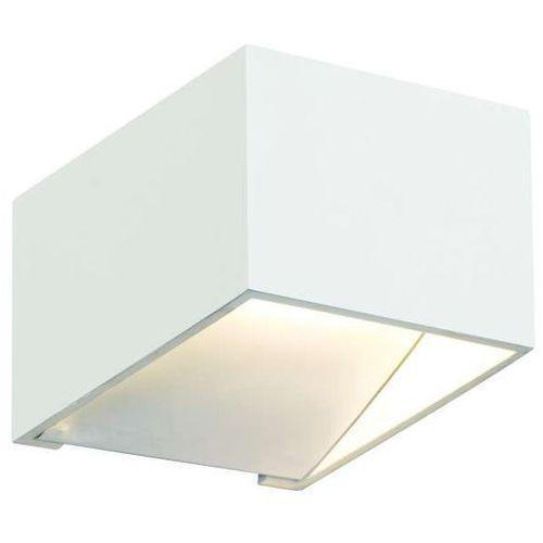 Kinkiet lampa ścienna misfit led 5w 20010101 minimalistyczna oprawa metalowa prostokątna biała marki Kaspa