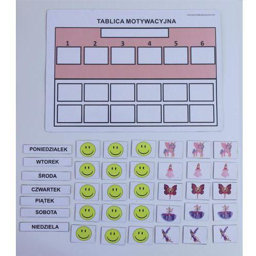 Bystra sowa Tablica motywacyjna magnetyczna a4 forma uproszczona różowa
