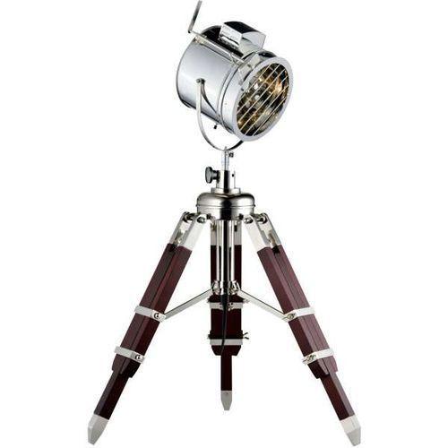 Lampa podłogowa Movie aluminium/ wenge E27 60W (5901602344569)