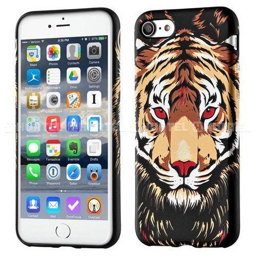 fluorescencyjny pokrowiec świecący w ciemności wild case iphone 6s 6 tygrys czarny - tygrys, marki Wozinsky