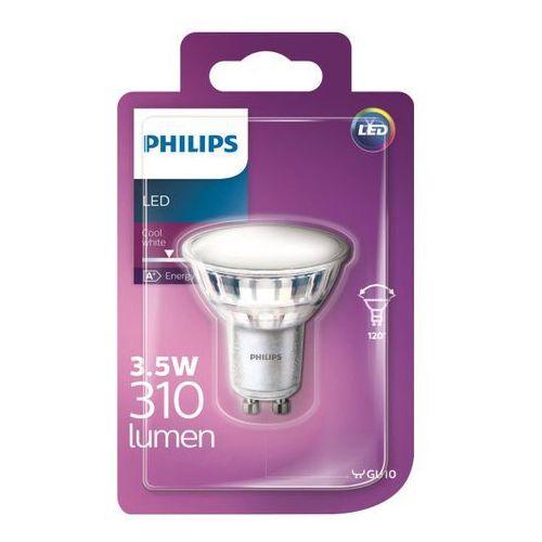 Philips Żarówka led gu10 3 5 w 310 lm 120° przezroczysta barwa zimna (8718696686768)