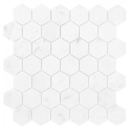 carrara mozaika kamienna carrara white hexagon 48 marki Dunin