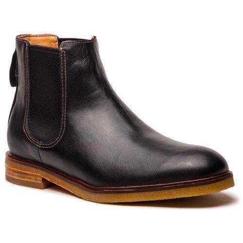 Sztyblety - clarkdale gobi 261362547 black leather, Clarks, 42.5-44.5