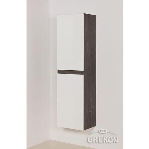 Szaro-biały słupek łazienkowy wiszący Grace Gante, kolor szary