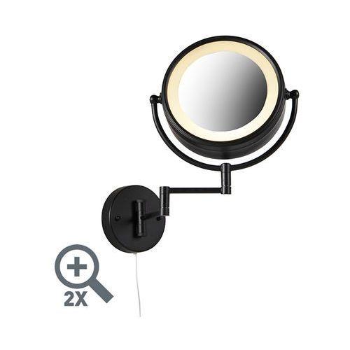 Okrągły lusterko do makijażu czarny przełącznik sznurkowy x2 - vicino marki Qazqa
