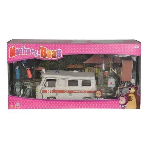 Masza i Niedźwiedź Zestaw ambulans (4006592998639)