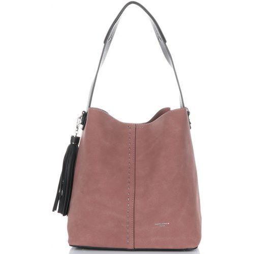 6f8db6837e6bf uniwersalne torebki damskie z kosmetyczką brudny róż (kolory) marki David  jones