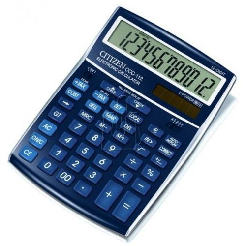 Citizen Kalkulator ccc-112bl niebieski (4562195133094)